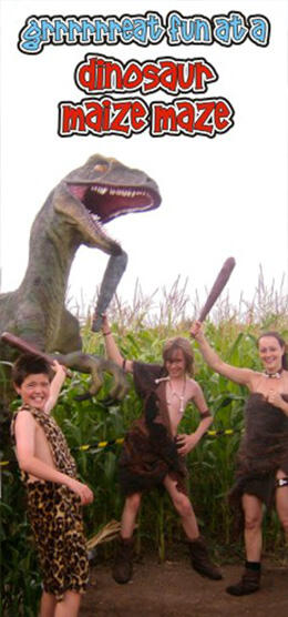 great fun at a dinosaur maize maze